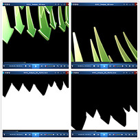 绿色箭头效果视频