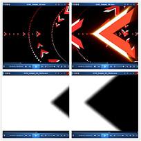 红色光效箭头视频