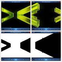 立体绿色箭头视频