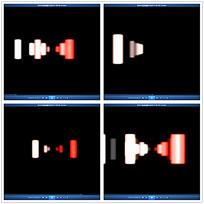 红色动态圆柱背景视频