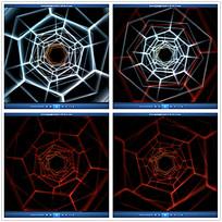 光效蜘蛛网背景视频