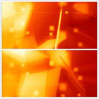 红橙色方格光效视频