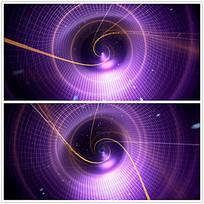 紫色网格漩涡光效视频