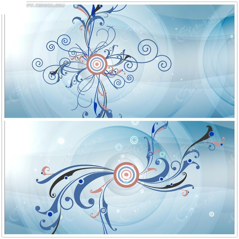 圆形波纹花纹背景视频图片