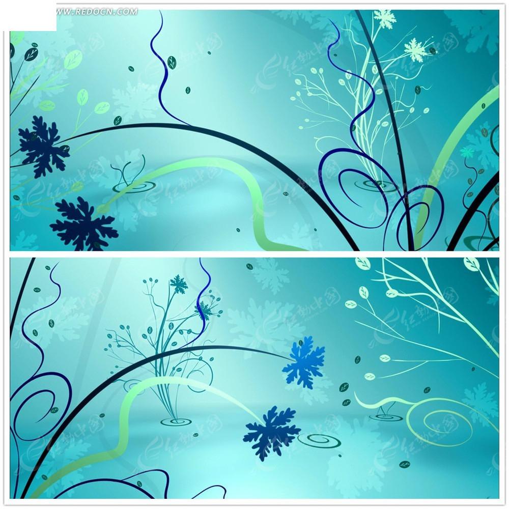 绿色花纹背景视频图片