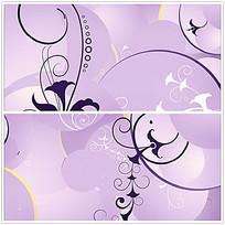 紫色花纹动态视频
