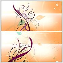 彩色花纹背景视频