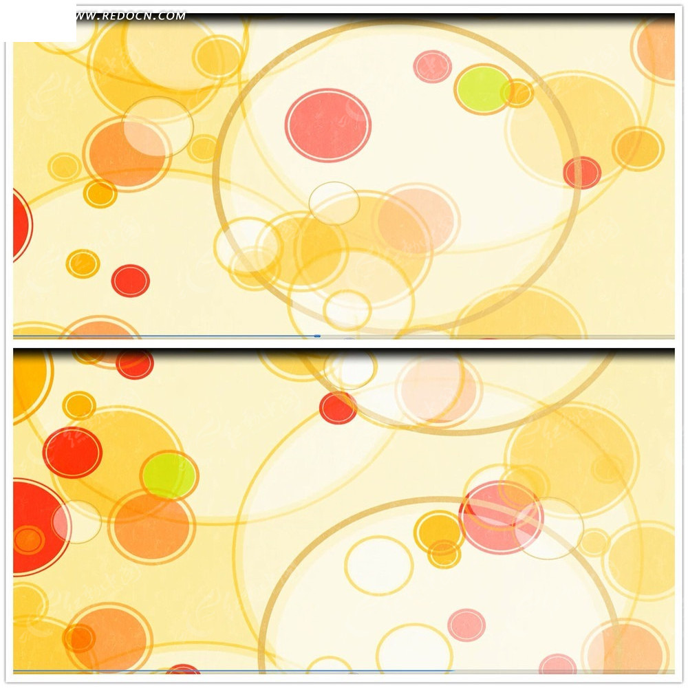 彩色圆圈背景视频