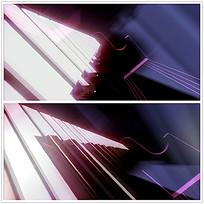 光效钢琴琴键视频
