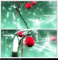 绿色圣诞装饰品背景视频