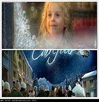 圣诞天使人群视频