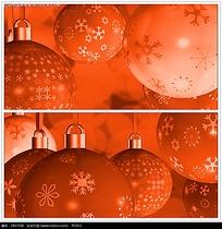 红色圣诞装饰背景视频