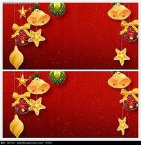 红色圣诞节日背景视频