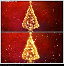金色圣诞树背景视频
