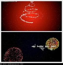 光效烟火圣诞背景视频