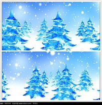 冰冻圣诞树背景视频