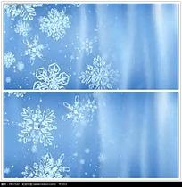雪花背景圣诞视频