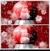 红色雪人音乐盒雪花视频