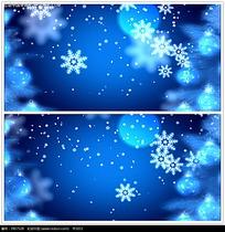 蓝色雪花圣诞背景视频