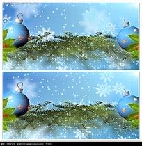 雪花圣诞装饰品背景视频