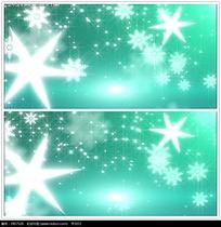 雪花星光背景视频
