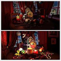 圣诞节室内装饰品视频