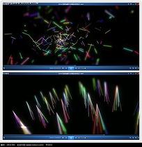 彩色荧光棒背景视频