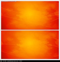 橙色光效背景视频