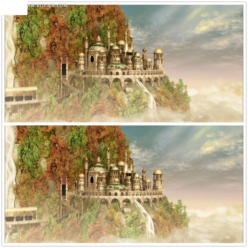 童话古堡唯美风景视频mpg素材免费下载 编号2912210 红动网