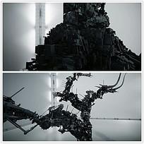 积木变成机器人视频