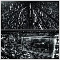 黑白立体飞速背景视频