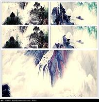 动态水墨山水画背景视频