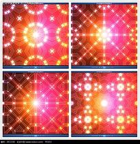 红黄色光效几何花纹视频
