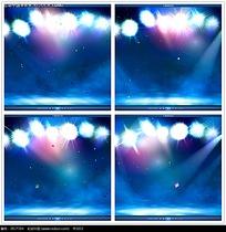 舞台彩色光晕光束背景视频