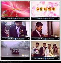 婚礼过程演示视频素材
