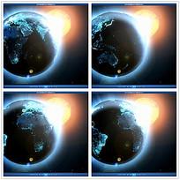 地球太阳空间背景视频