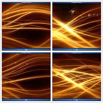金色光效波动背景视频