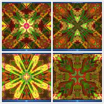 彩色万花筒异域花纹视频