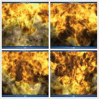 大火火焰烟雾背景视频