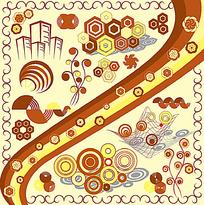 几何花纹抽象图形图案