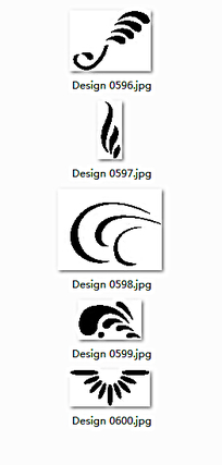 黑白花边图案设计