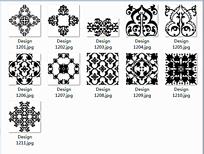 黑白花纹图案设计