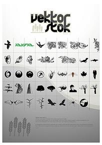 花纹树纹动物图案设计