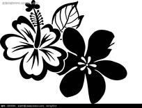 黑白手绘花纹