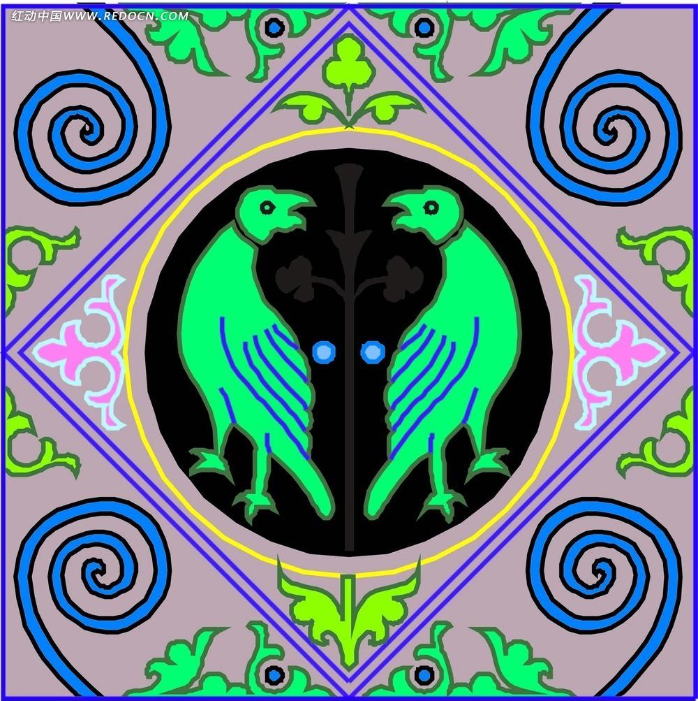 墨绿色欧式地毯贴图