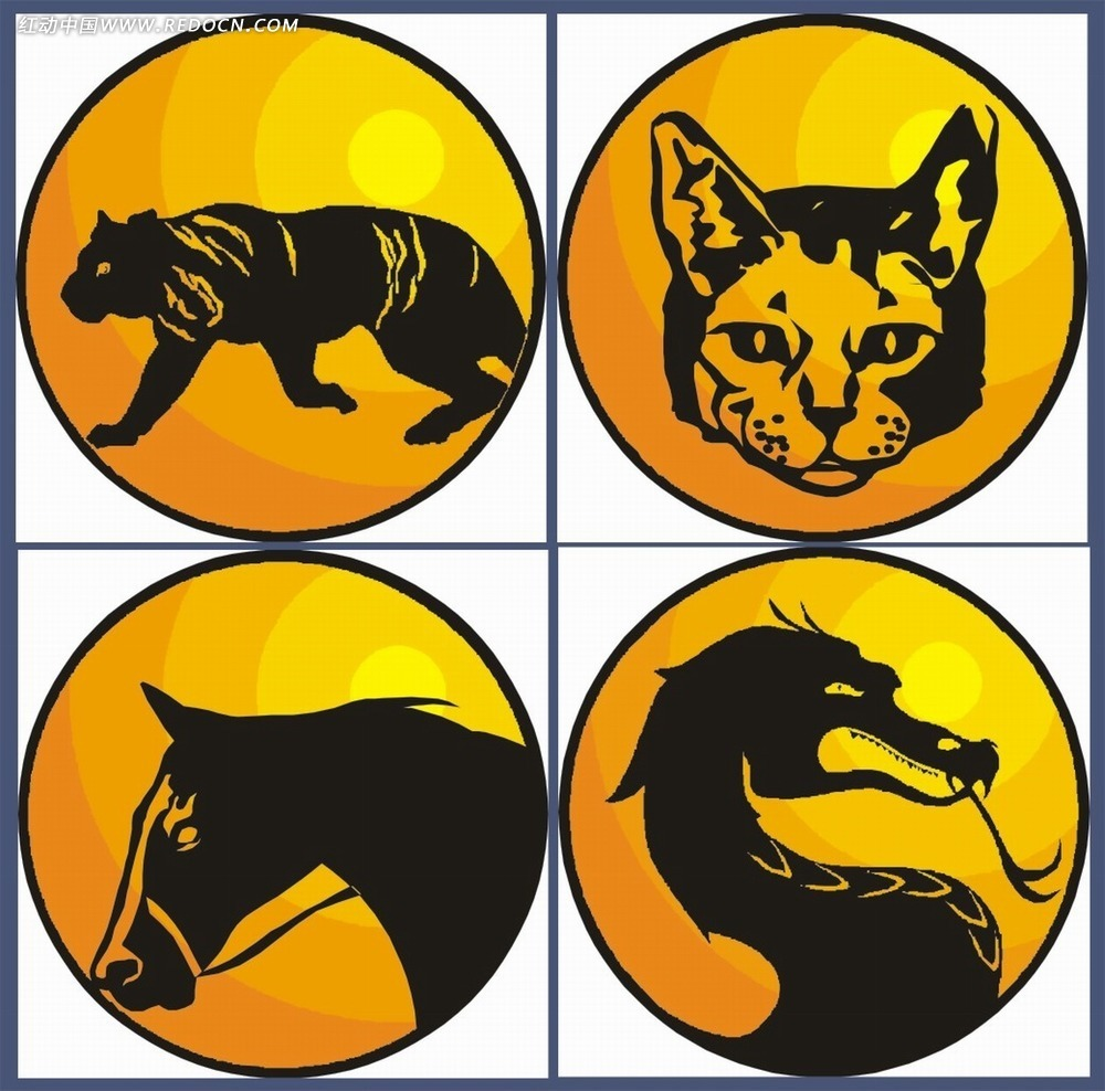 动物图案图标设计图片