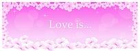 唯美鲜花边框背景情人节卡片