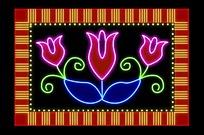 花朵LED招牌模板