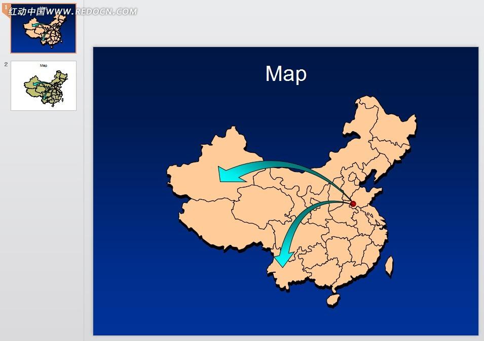 中国地图ppt模板图片