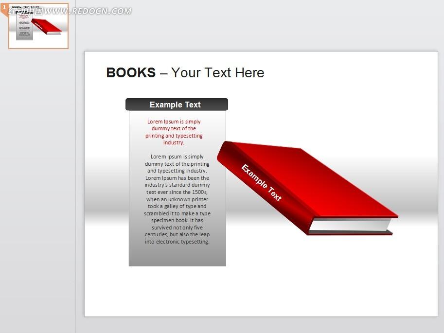 ppt红色书本素材免费下载_表格图标图片